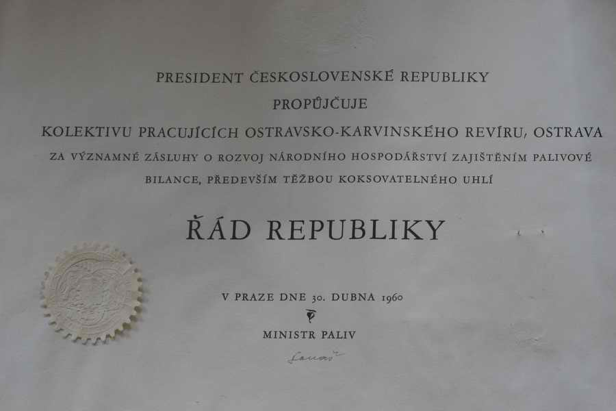 Řád republiky do r. 1960 č. 365 - dekret